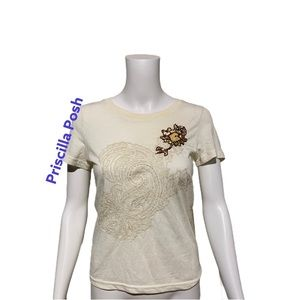 Abercrombie and Fitch Embroidered Embellished Tee